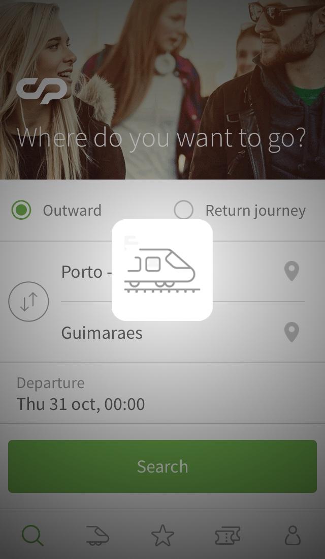 ポルトガル鉄道CPアプリの使い方3