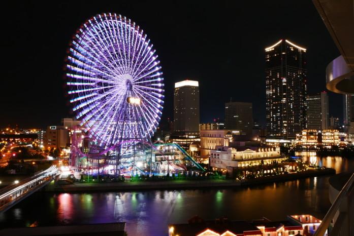 横浜ベイホテル東急の客室からの眺め