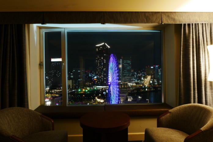 ヨコハマグランドインターコンチネンタルホテル客室からの眺め
