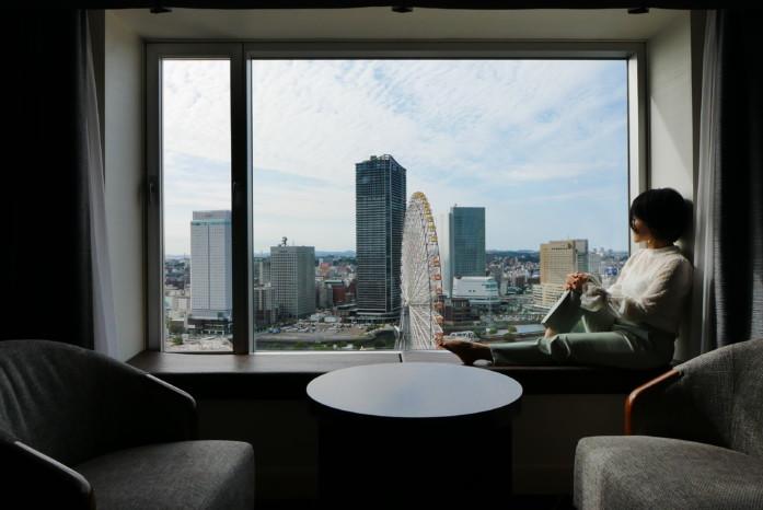 ヨコハマ グランド インターコンチネンタル ホテルからの眺め