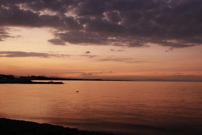 二見浦の夕景