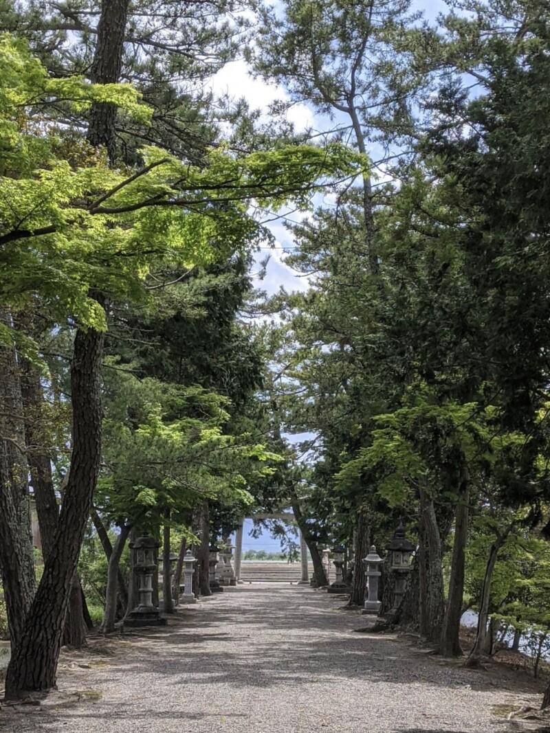 志那神社の参道