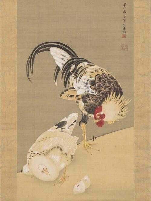 伊藤若冲「群鶏図」