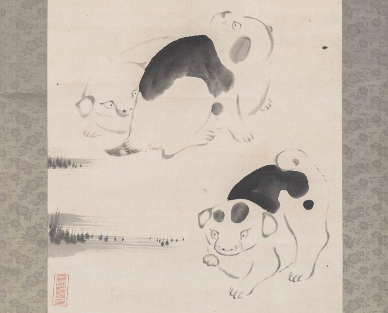 伊藤若冲「仔犬図」